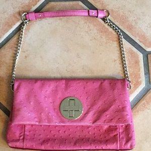 Kate Spade Dark Pink ostrich handbag